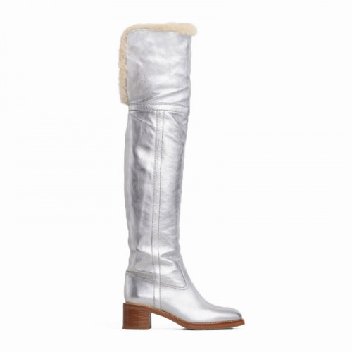 Over the Knee Boot 45 Metalized Calfskin