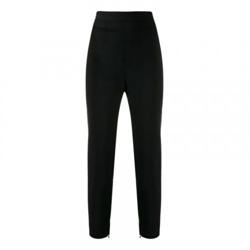 HIGH WAIST FITTED TRS STR WOOL