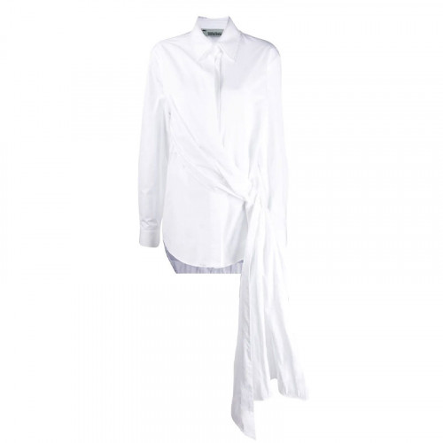POPELINE WRAP SHIRT WHITE NO COLOR