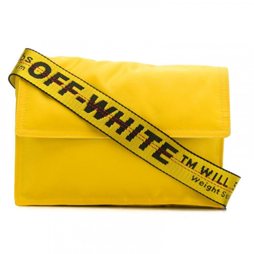 NYLON ZIPPED FLAP BAG YELLOW NO COLOR