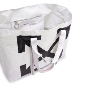 NEW COMMERCIAL TOTE WHITE BLACK