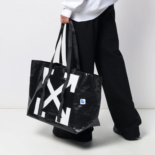 NEW COMMERCIAL TOTE BLACK WHITE