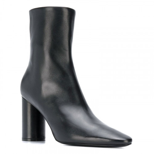 OVAL BOOTIE H90 SHINY SHEEPSKI