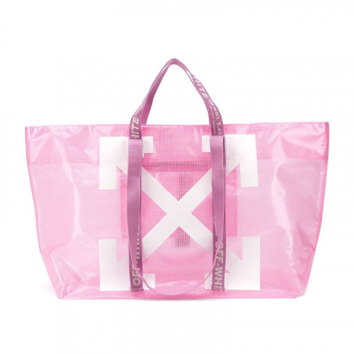 COMMERCIAL TOTE PINK WHITE