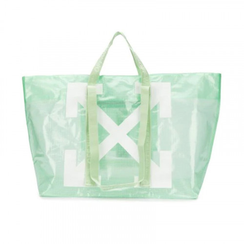 COMMERCIAL TOTE LIGHT GREEN WHITE