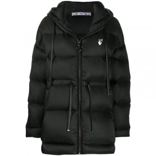 BELTED PUFFER BLACK WHITE