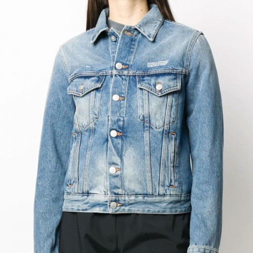 DENIM LONG JKT LIGHT BLUE  WHITE