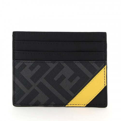 BUSINESS CARD CASE/FF/FABRIC+CALF LEATHER
