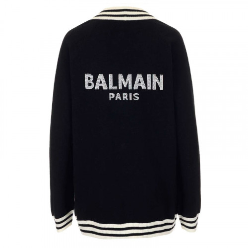 BUTTONED LOGO CARDIGAN