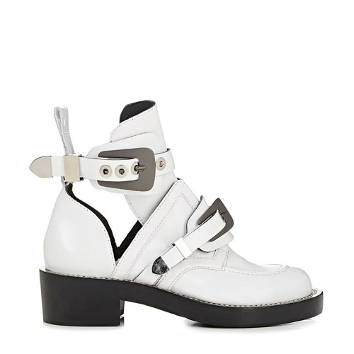 CEINTURE ANKLE BOOTS WHITE