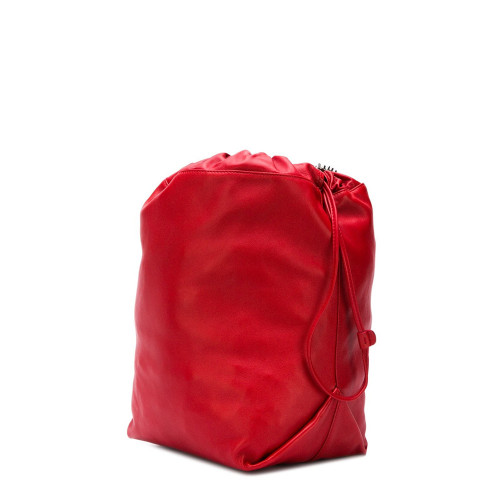 TEDDY DRAWSTRING BAG IN SMOOTH LEATHER