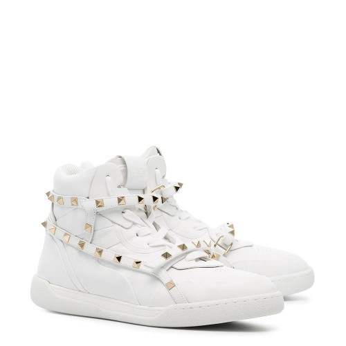ROCKSTUD HIGH-TOP SNEAKERS