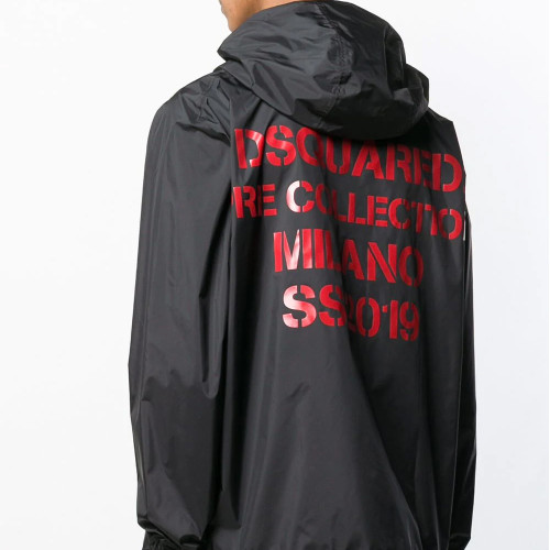 HOODED LOGO WINDBREAKER