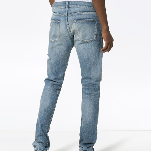 SLIM-FIT BIG HOLES JEANS