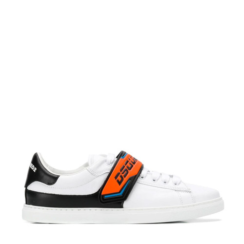 FLUO-STRAP LO-TOP SNEAKERS